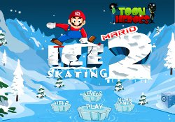 gioca a Mario Ice Skating 2