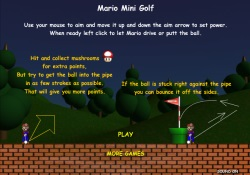 gioca a Mario Mini Golf