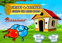 gioca a Fireboy and Watergirl - Escape Magic World