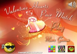 gioca a Valentine Hearts Pair Match