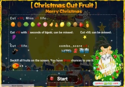 gioca a Christmas Cut Fruit