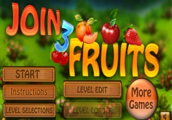 Giochi Di Puzzle Join Three Fruits